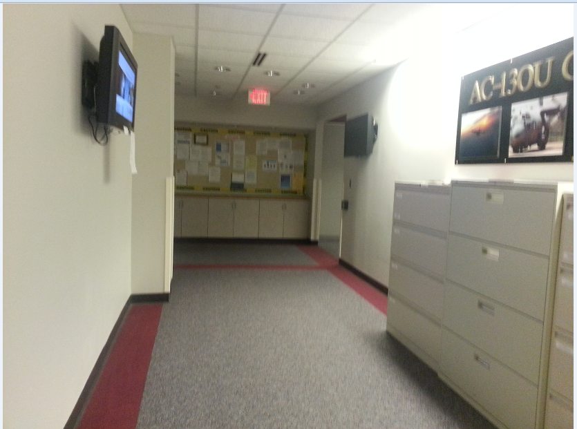 TV in hallways
